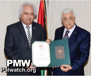 "PA President Mahmoud Abbas awards Samir ‎Ghattas an ""Order of Merit"" in June 2014 for advising Abu-Jihad (a PLO founder and planner of attacks that killed 125 Israelis) and for planning three separate attacks himself."